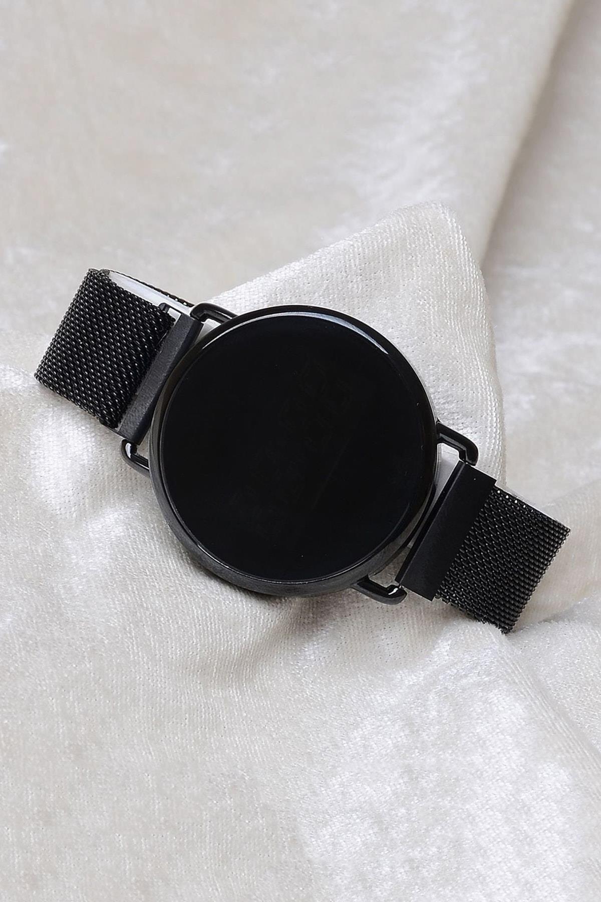 Spectrum Unisex Siyah Mıknatıslı Dokunmatik Kol Saati XT250131 1