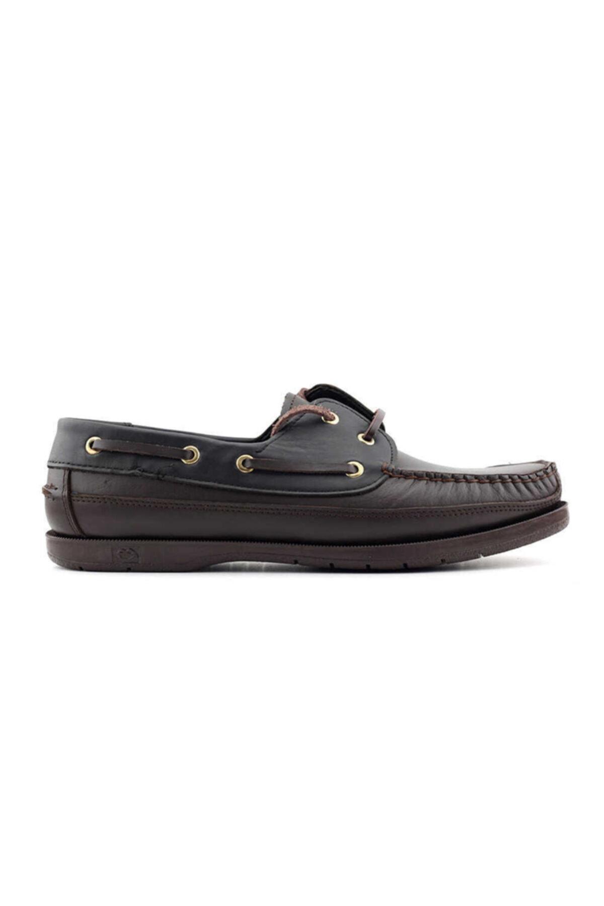 Kayra Erkek Kahverengi Siyah Hakiki Deri Ayakkabı 301 1