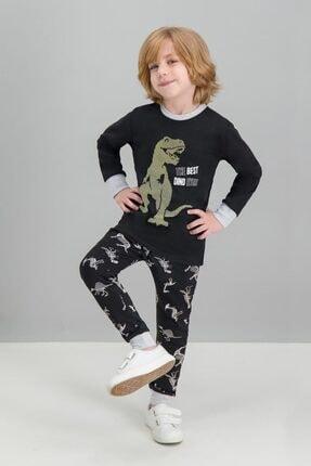 ROLY POLY Best Dinosaur Siyah Erkek Çocuk Pijama Takımı
