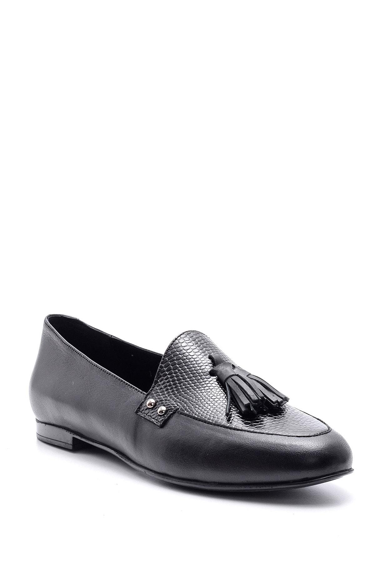 Derimod Kadın Siyah Klasik Deri Loafer 2