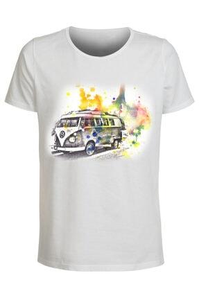 ABC Erkek Beyaz Baskılı Tshirt