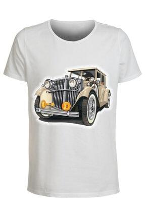 ABC Erkek Beyaz Baskılı Tişört