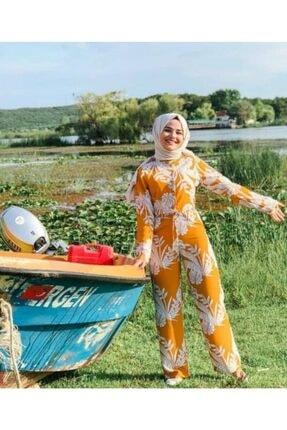 moda gülşen Kadın Sarı Tulum