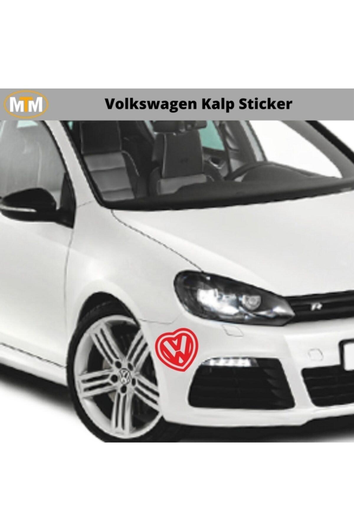 Adel Volkswagen Kalp Oto Sticker 15 Cm 1