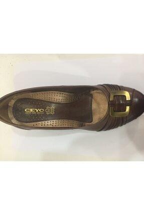 Ceyo 12156-5 Kahve Bayan Anatomik Ayakkabı