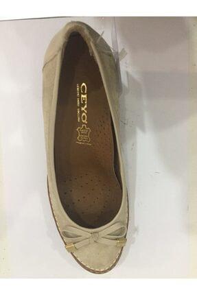 Ceyo Kadın Bej Anatomik Dolgu Topuk Ayakkabı