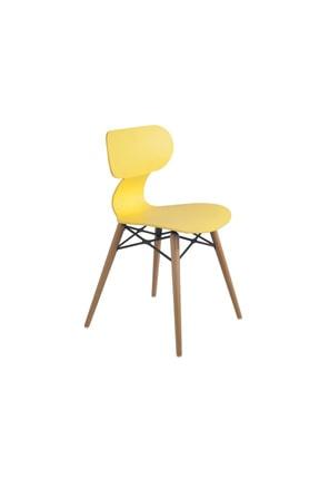 Papatya Sarı Yugo-s Wox Plastık Sandalye Bahçe Mutfak Restoran Kafe Kanarya Sarısı