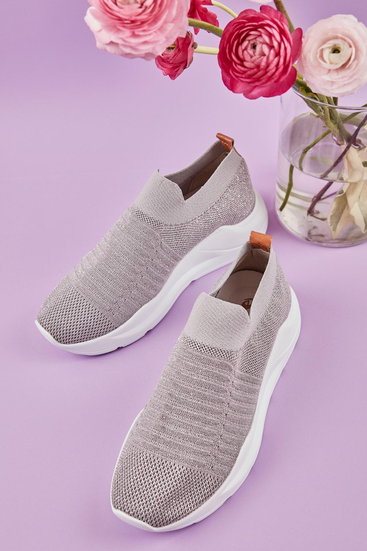 Bambi Lame Kadın Sneaker K01673050582 1
