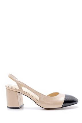 Derimod Kadın Bej  Kalın Topuklu Ayakkabı