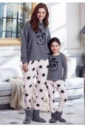 Penyemood Kadın Gri Pijama Takımı Ev Kıyafeti