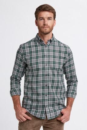 Hemington Erkek Yeşil Ekose Desen Pamuk Gömlek
