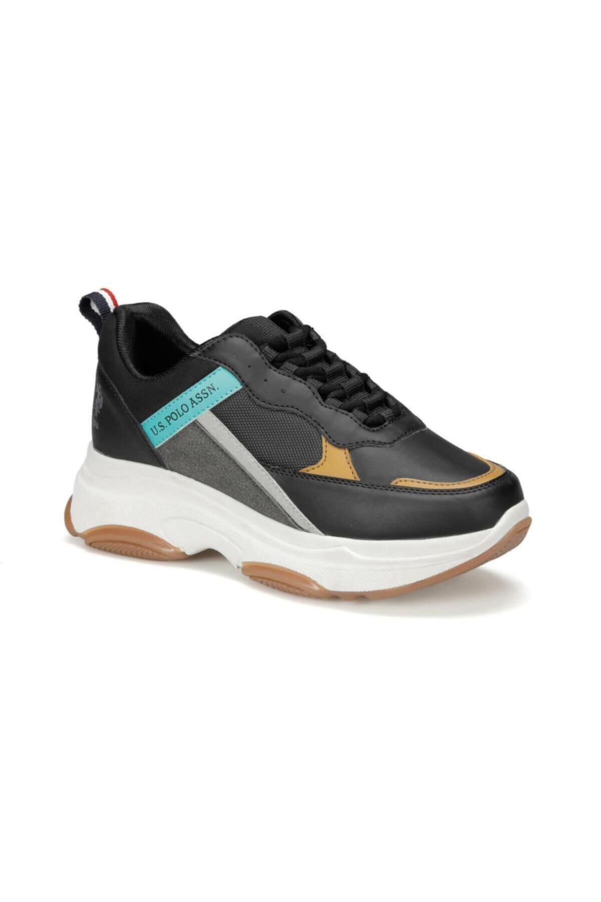 U.S. Polo Assn. BETSY 9PR Siyah Kadın Sneaker Ayakkabı 100417775 1