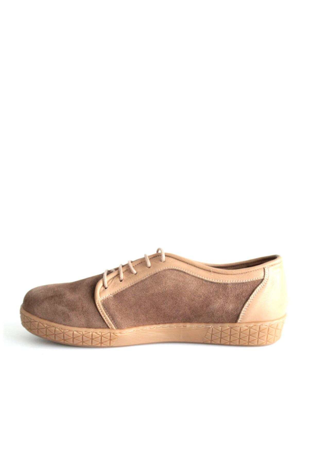 Beta Shoes Günlük Ayakkabı Hakiki Deri Kadın Süet Toprak 2
