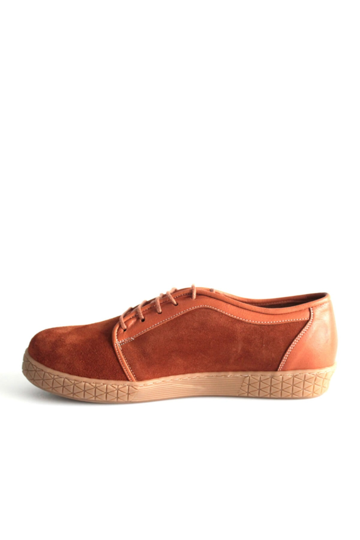 Beta Shoes Günlük Ayakkabı Hakiki Deri Kadın Süet Taba 2