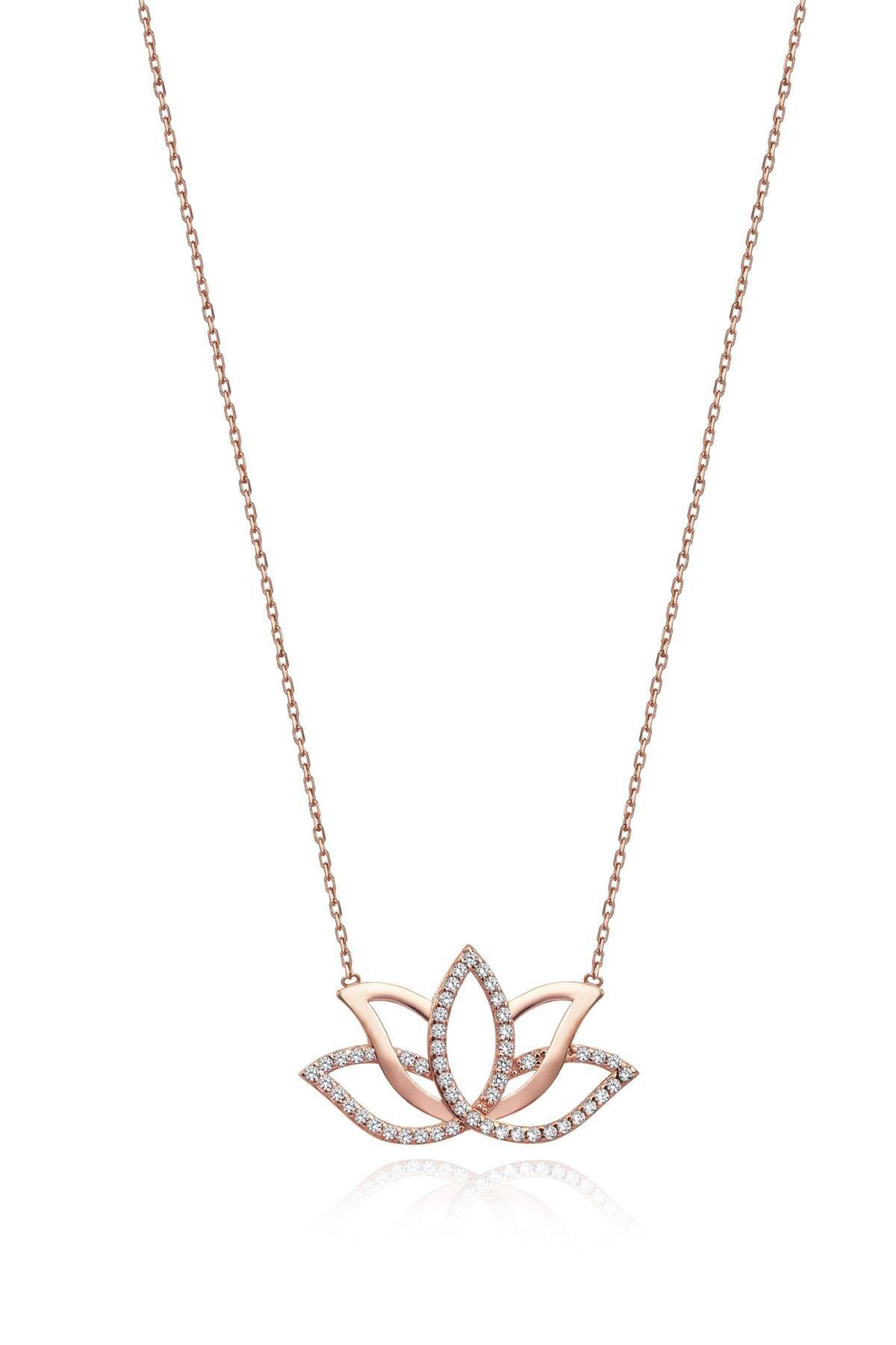 Gümüş Tezgahi 925 Ayar Gümüş Lotus Yaşam Çiçeği Aşk Kolyesi 1