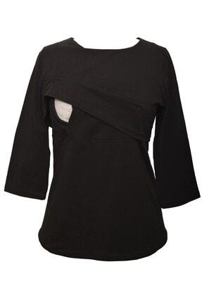MYRA by LuvmaBelly Kadın Siyah Hamile Emzirme Bluz Myra3501