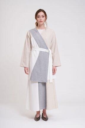 Mizalle Parçalı Kuş Gözlü Iki Iplik Kimono