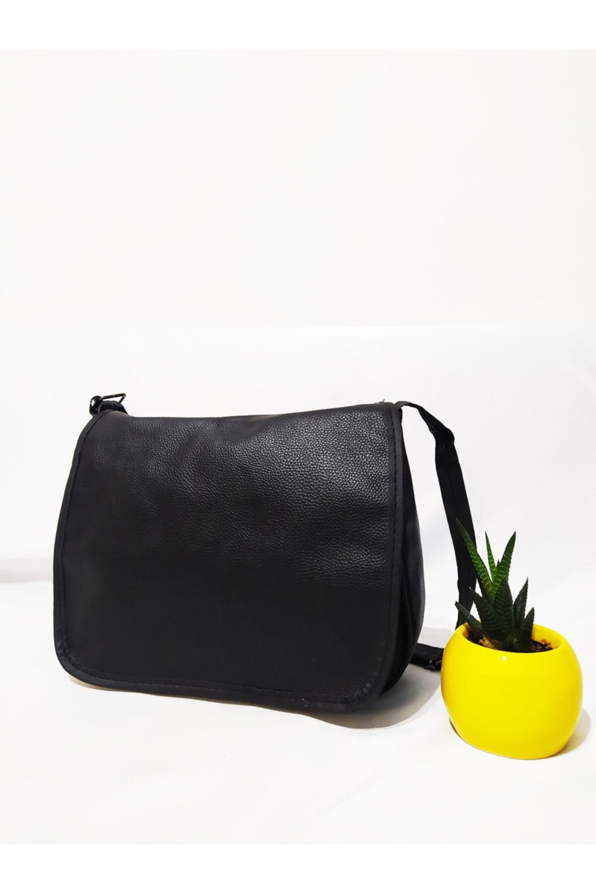 Sheilann Siyah Çapraz Kapaklı Çanta 1