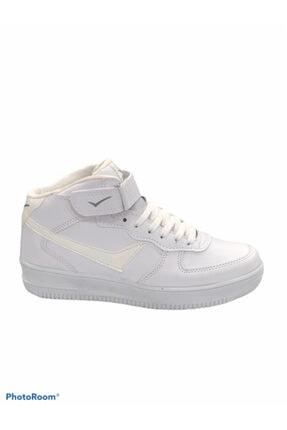 Lambırlent Unisex Beyaz Yarım Boğazlı Suya Dayanıklı Termo Kaymaz Taban Ayakkabısı