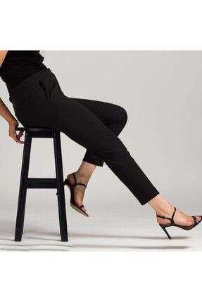 MODAMAİSA Kadın Siyah Dar Bilek Pantolon