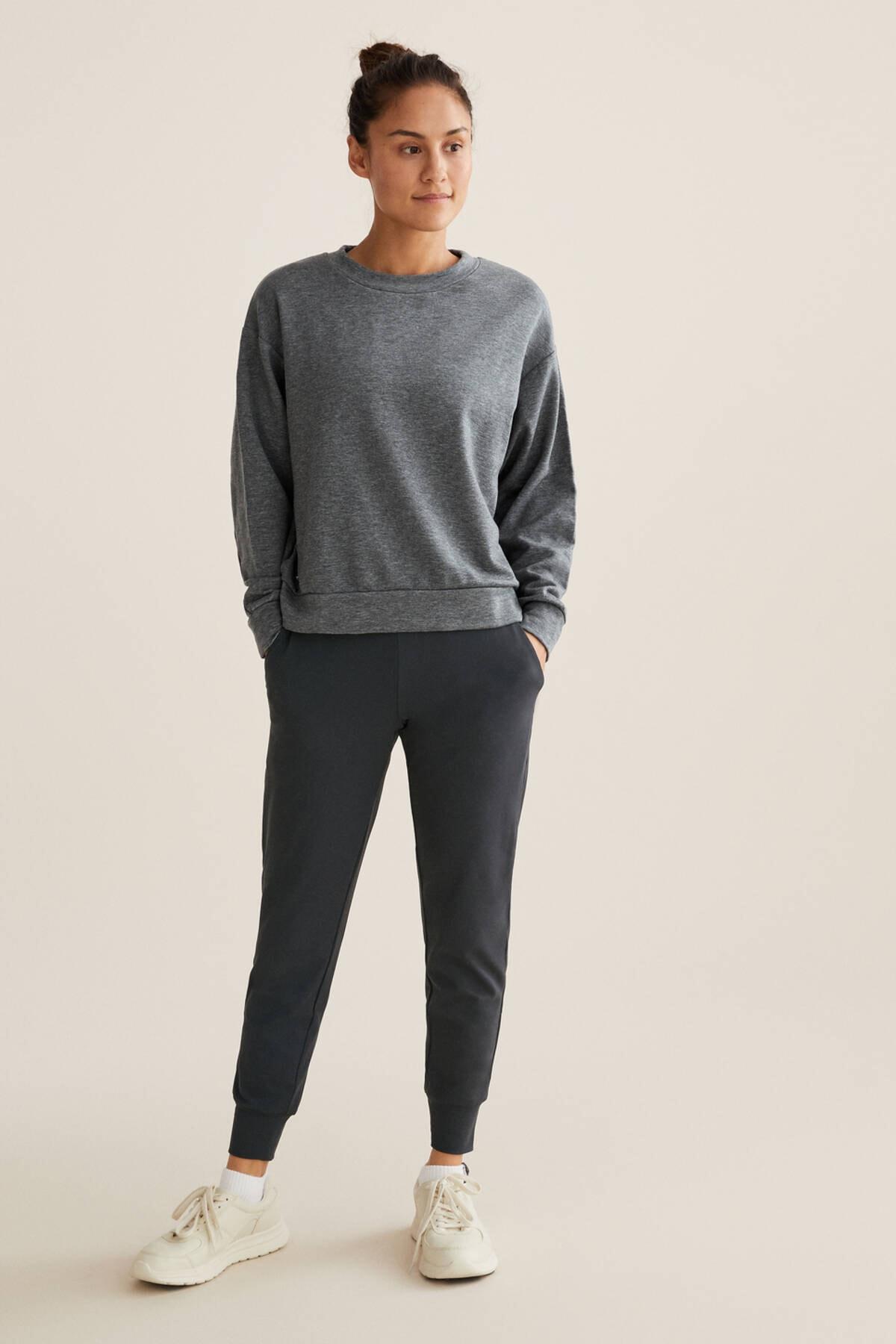 Oysho Kadın Gri Comfort Jogger Pantolon 2