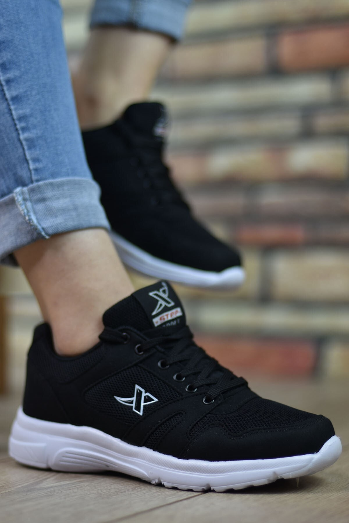 Riccon Unisex Siyah Beyaz  Sneaker 12020 1