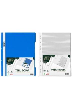 Gen-Of Telli Dosya Mavi 50 Li-poşet Dosya 100 Lü