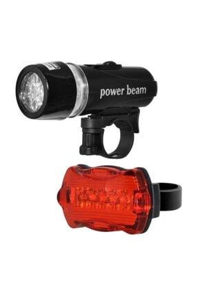 FBI Led Bisiklet Lambası Feneri Ön Far Arka Stop Işık Aydınlatma Seti