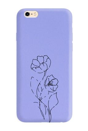 Spoyi Iphone 6s Plus Çizgi Tasarımlı Mor Lansman Telefon Kılıfı