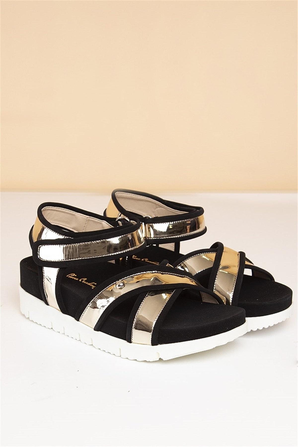 Pierre Cardin Kadın Altın Günlük Sandalet  Pc-2322 1