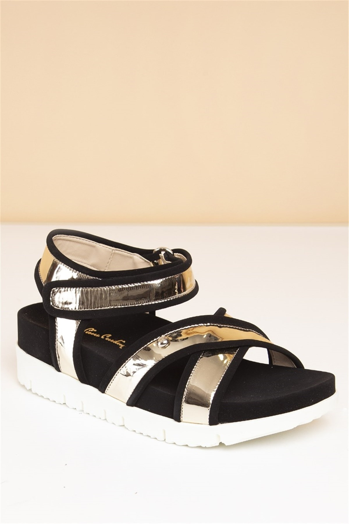 Pierre Cardin Kadın Altın Günlük Sandalet  Pc-2322 2