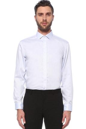 Network Erkek Beyaz Mavi Beyaz Mavi Italyan Yaka Gömlek 1075290