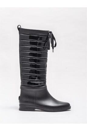 Elle Shoes Kadın Siyah Düz Çizme