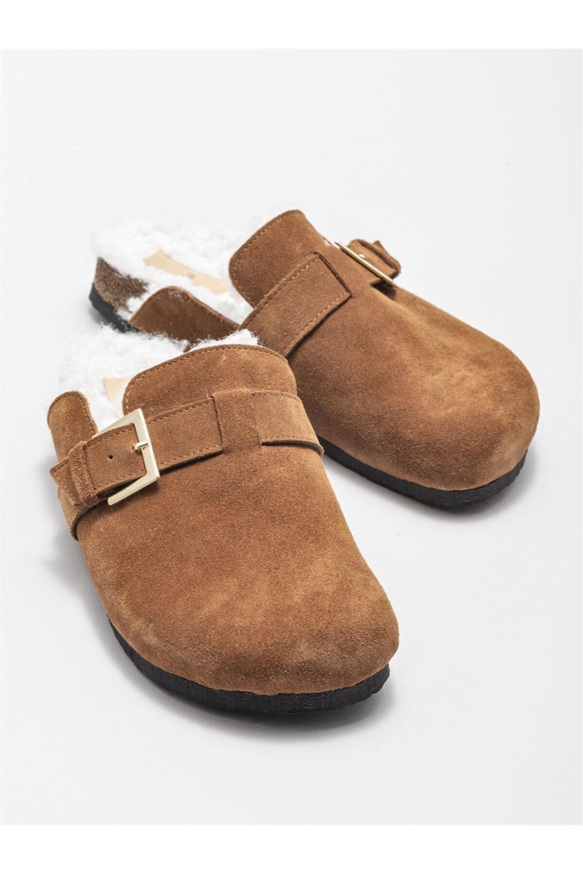 Elle Shoes Kadın Taba Terlik 2