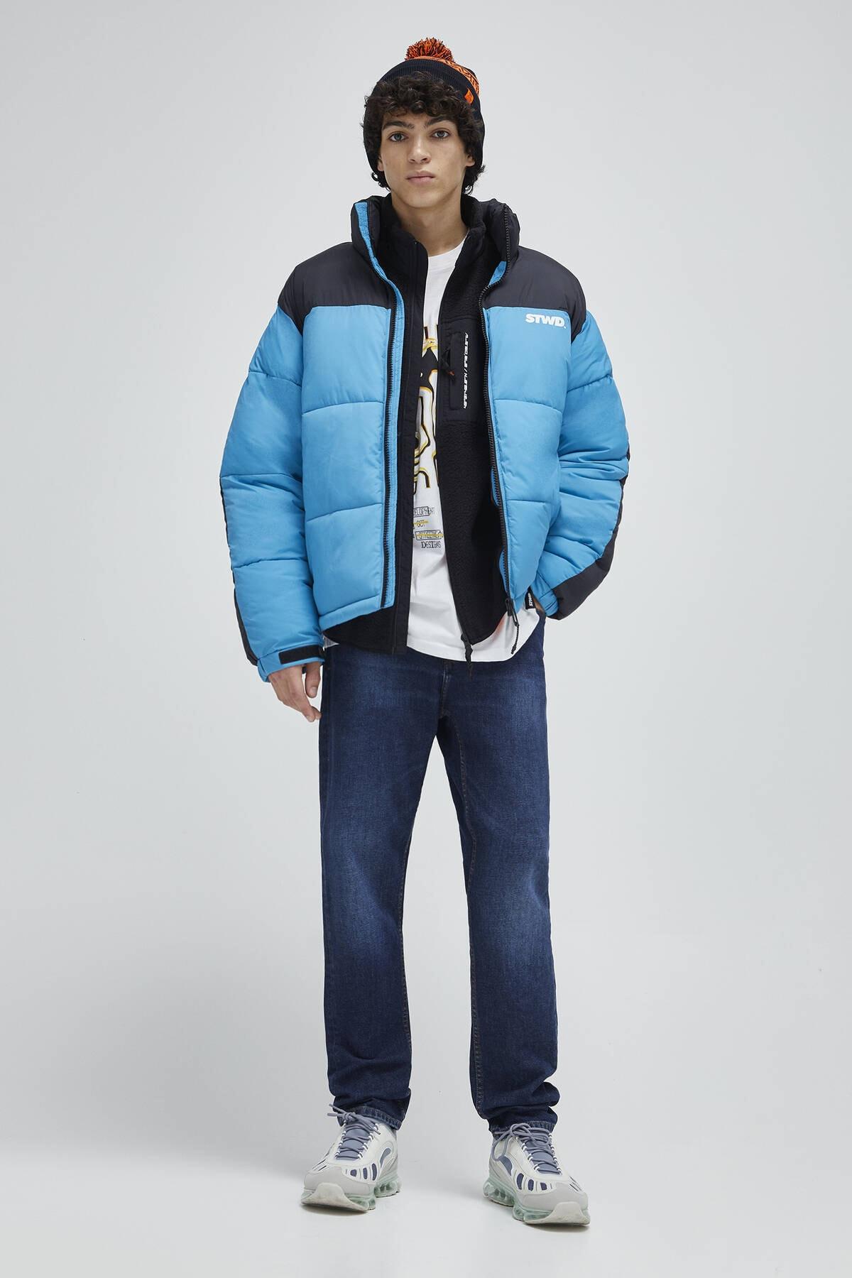 Pull & Bear Erkek Lacivert Koyu Mavi Slim Fit Jean 04681500