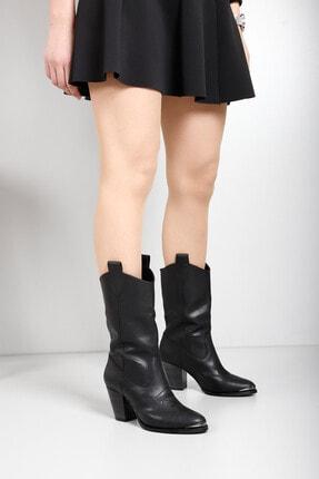 G.Ö.N Kadın Siyah Çizme 32301