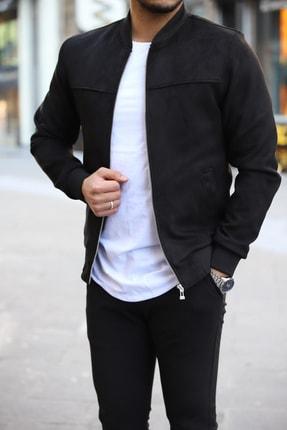 DENSMOOD Erkek Siyah Süet Ceket