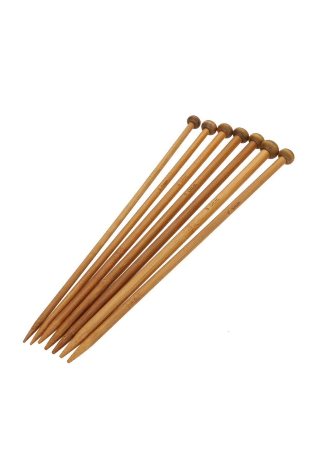 Zagor Bambu Örgü Şişi ikili 4 set. 2