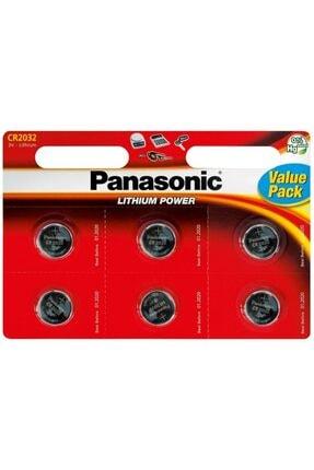 PANASONIC Cr2032 3v Lityum Para Düğme Pil 6'lı Blister Ambalaj