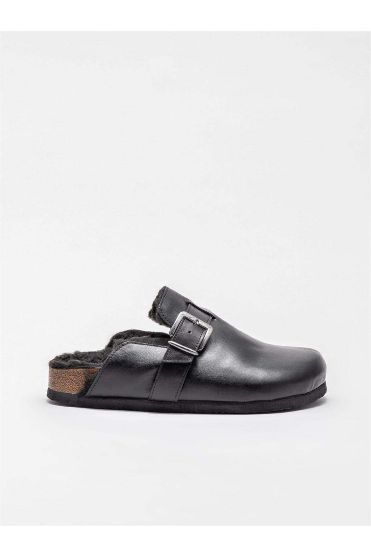Elle Shoes Kadın Siyah Ev Terliği 1