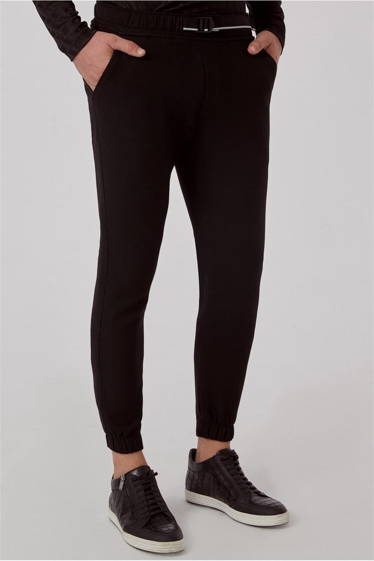 Efor ATP 017 Slim Fit Siyah Spor Pantolon 2