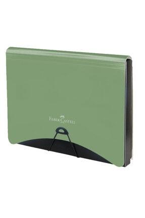 Faber Castell Faber-castell A4 Körüklü Dosya Metalik Yeşil A7+1 5075170103000