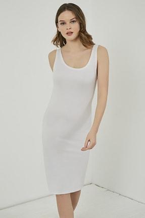Sateen Kadın Beyaz Elbise STN803KEL114
