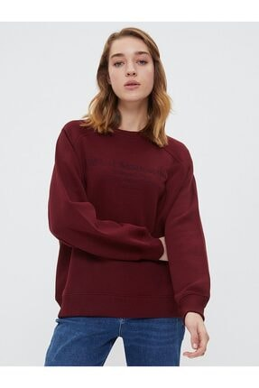 Loft Kadın Bordo Sweatshirt 2025352