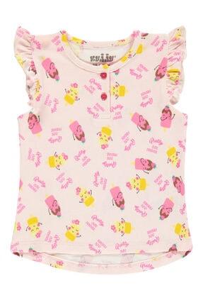 Kujju Kız Bebek Pembe Tişört