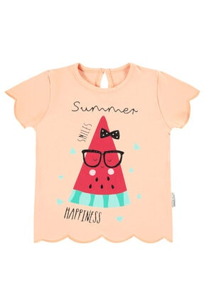 Kujju Kız Bebek Pembe T-shirt
