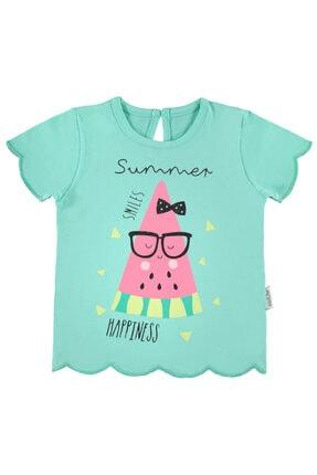 Kujju Kız Bebek Turkuaz T-Shirt