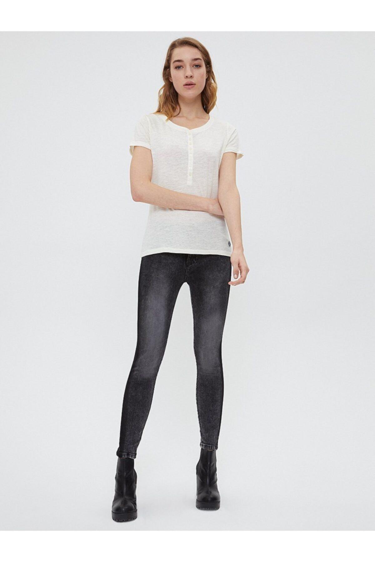 Loft Kadın Gri Pantolon 2025642 1