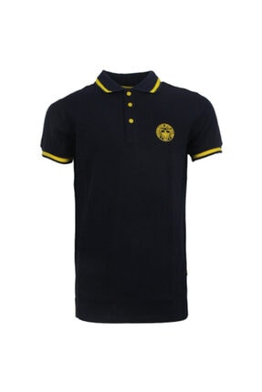 Fenerbahçe Erkek Lacivert Trıbun Yaka Detaylı Polo T-Shirt