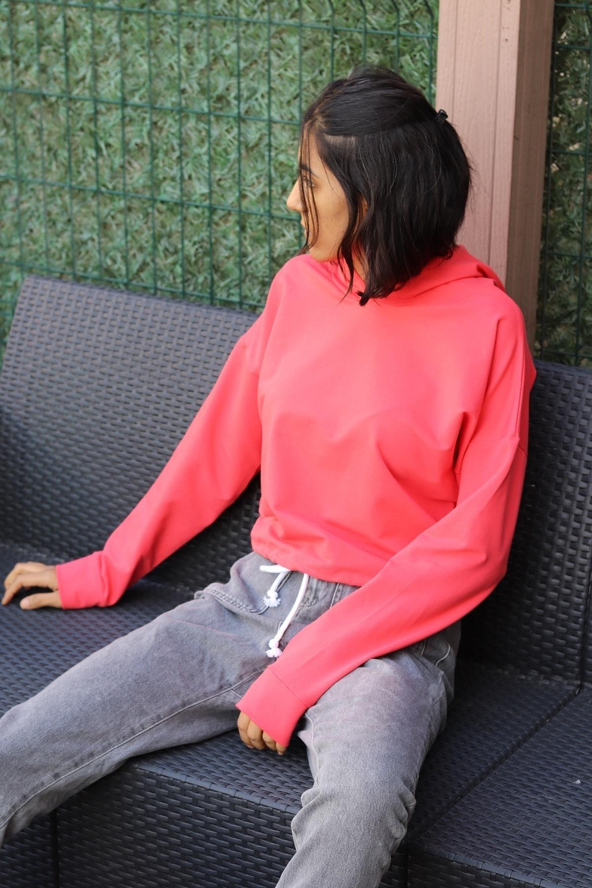 Endaze Kadın Nar Çiçeği Sweatshirt 2